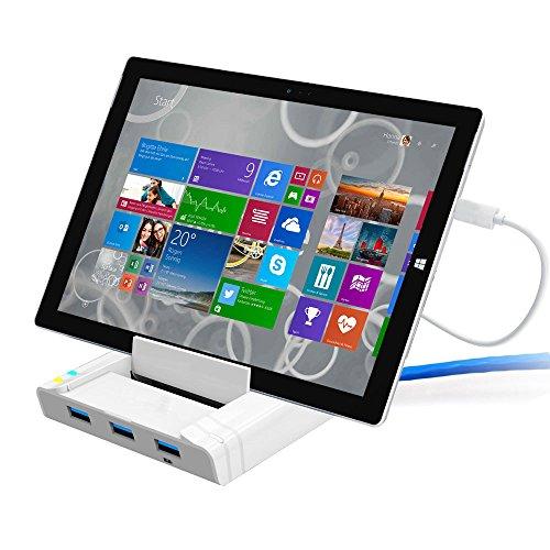 Unitek USB 3.0 3 Port Hub + Docking Station + OTG Adapter + RJ45 10/100/1000 Gigabit Ethernet Adapter for Windows Android Tablet, Smartphone Ultrabook by Unitek (Image #4)