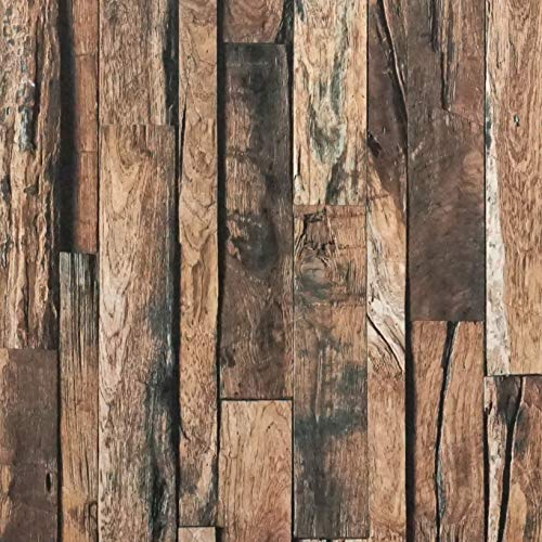 - Reclaimed Wood Contact Paper Rustic Wallpaper Wood Peel and Stick Wallpaper Removable Distressed Faux Wood Plank Wallpaper Self Adhesive Decorative Vinyl Film Shelf Drawer Liner Roll 17.7