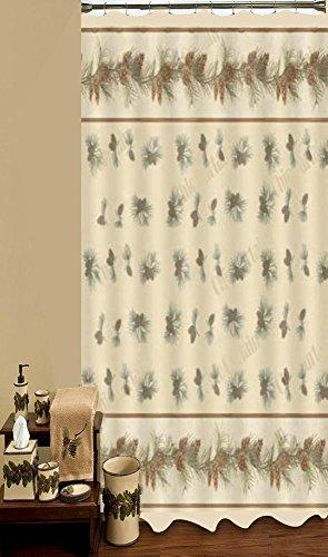 Pinehaven Pinecones Shower (Pine Cone Shower Curtain)