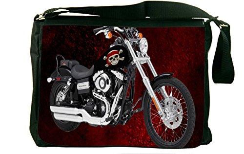 Rikki KnightTM Harley Davidson Pirate Skull Messenger Bag - - Shoulder Bag - School Bag for School or Work - With Matching coin Purse