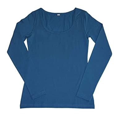 703265103f3c Leela Cotton Damen Langarm-Shirt Bio-Baumwolle  Amazon.de  Bekleidung