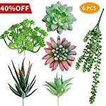 AmyHomie Artificial Plants Set of 4 Mini Fake Succulent Plants with Pots for Home Weeding Office Decoration