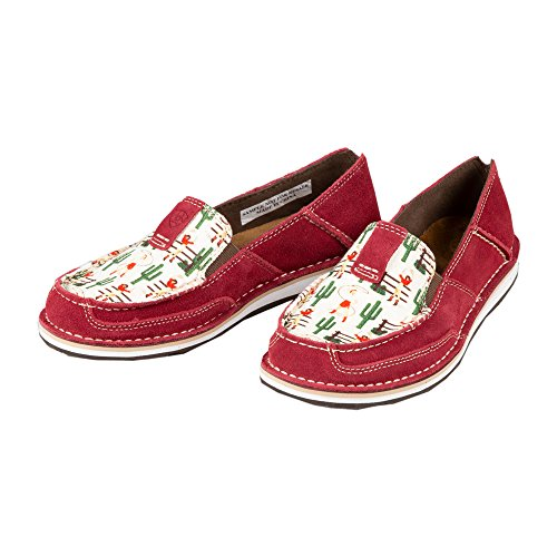 Ariat Women's Cruiser Moccasin, Vintage Cowgirl/Cranberry, 11 B US