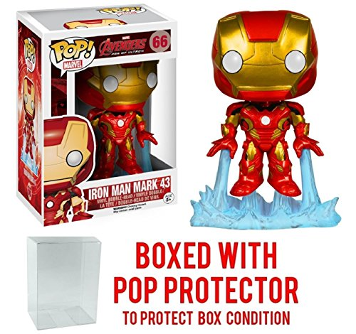 Funko Pop! Marvel: Avengers 2 Age of Ultron - Iron Man Mark 43 Vinyl Figure (Bundled with Pop BOX PROTECTOR CASE)