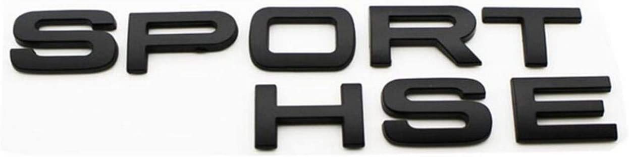 "Matte Black"" SPORT HSE"" Car Rear Trunk Letters Badge Emblem Emblems Badges Decal Sticker for Discovery Range Rover"