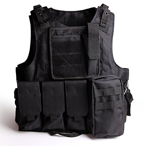 Review SOLOMONE CAVALLI Tactical Molle Combat Vest Airsoft camouflage Police Fully adjustable