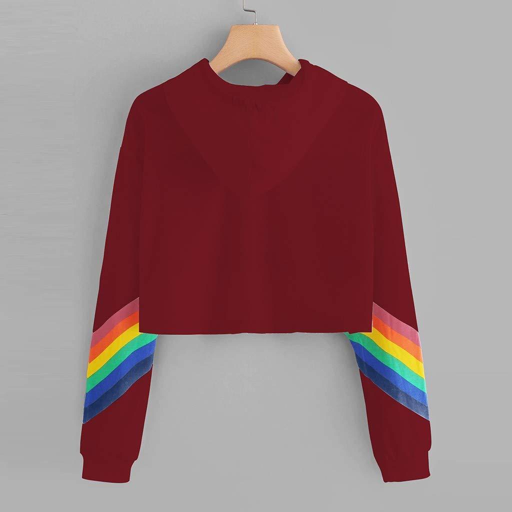 Hoodies for Women Workout Crop Top Hoodie Hooded Pullover Sweatshirt Pride Shirts