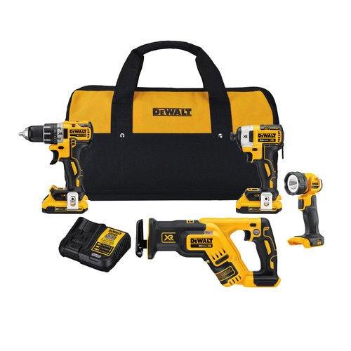 DEWALT DCK484D2 20V MAX XR Brushless 4 Tool Combo (Four Tool Combo Kit)