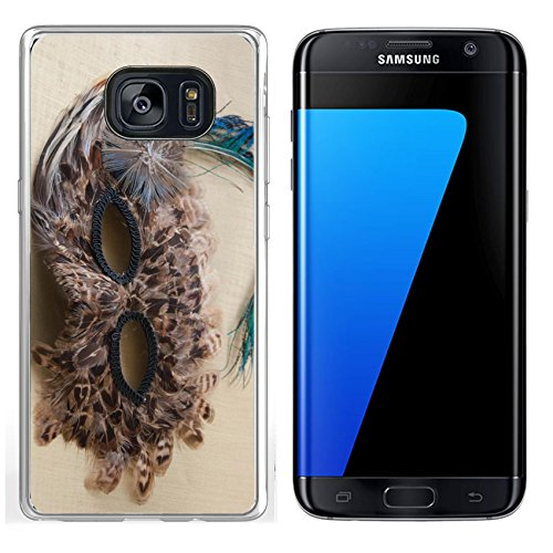 Luxlady Samsung Galaxy S7 Edge Clear case Soft TPU Rubber Silicone IMAGE ID 31625338 feather mask for party halloween (Original Silicone Halloween Mask)