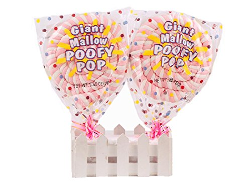 10PCS Giant Roll Marshmallow Soft Lollipop Sweets Snack for Children 75g/2.65oz10