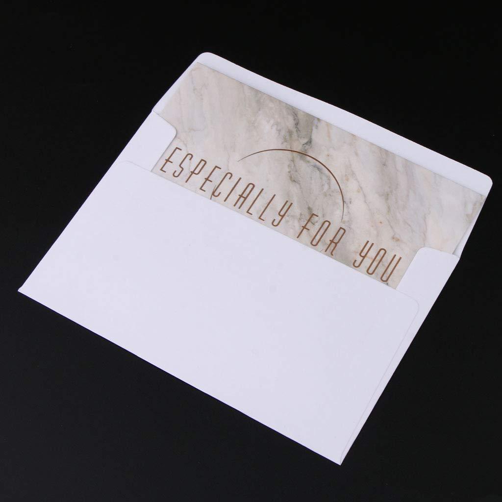 Baoblaze 10 Piezas Invitaciones de Tarjetas Felicitación Mármol Sobres Boda Cumpleaños - Estilo 6: Amazon.es: Oficina y papelería