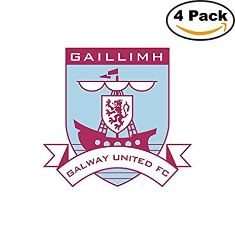 Galway united fc ireland soccer football fc decal logo 4 stickers 4x4 1