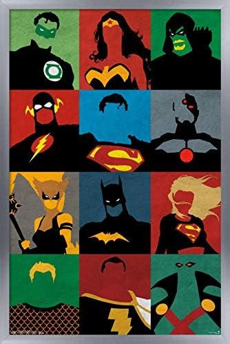 Justice League Hero Art Wall Cloth Poster Print 510