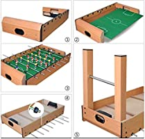 ZOUJUN Inicio de Mesa Mesa de futbolín Juego de fútbol for niños Compacto y portátil Mini Table Top Juegos de fútbol for Arcadas, Sala de Juegos, los niños fácil de Montar (Color :