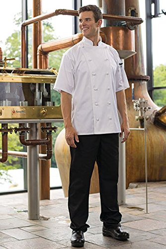 Uncommon Threads Unisex Executive Chef Pant, Black, X-Small - Executive Chef Pants