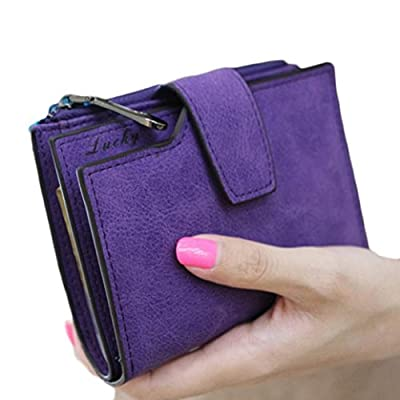 Winhurn 2016 Women Mini Grind Magic Bifold PU Leather Wallet Card Holder Purse