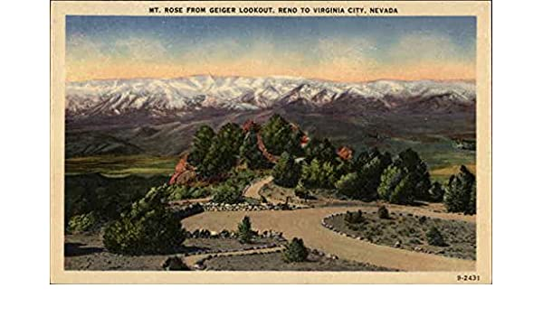 Mt Rose From Geiger Lookout Reno To Virginia City Nevada Reno Nv Original Vintage Postcard At Amazon S Entertainment Collectibles Store