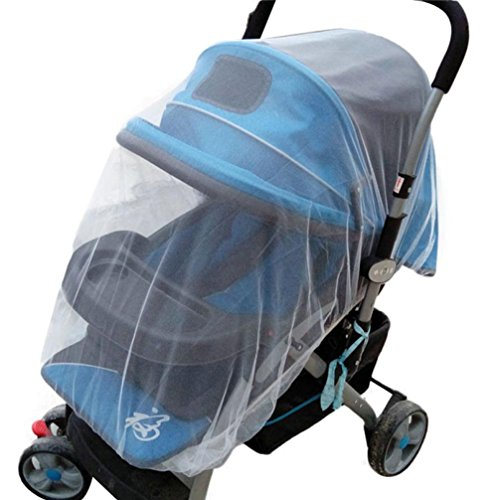 Fabal Summer Safe Baby Carriage Insect Full Cover Mosquito Net Baby Stroller Bed Netting (As picture show) (Gazebo Frame Zip)