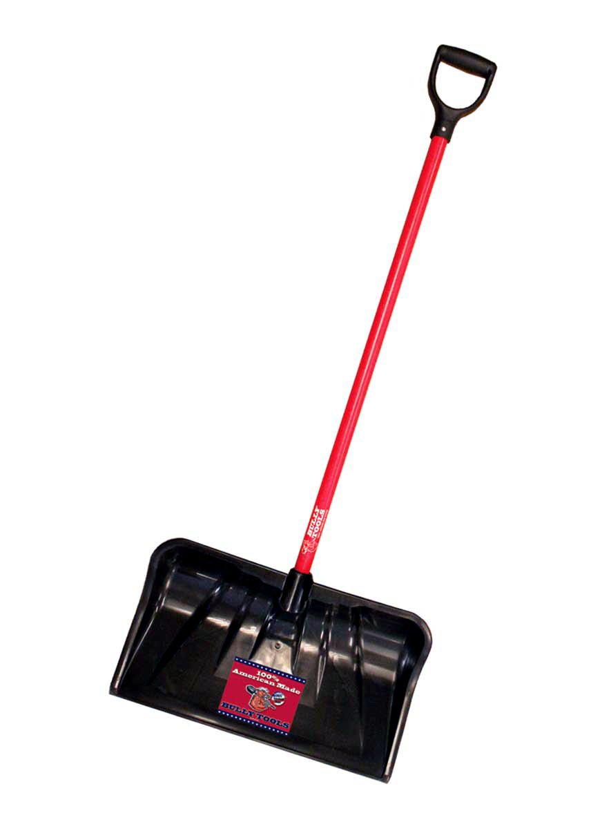 Bully Tools 92814 Combination Snow Shovel with Fiberglass D-Grip Handle, 22-Inch