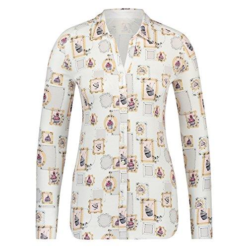 Cake Soto Mujer Para White Print Camisas PfrfYwI