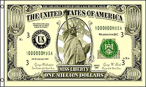 AZ FLAG Million Dollars Flag 3' x 5' - US Million Dollar Flags 90 x 150 cm - Banner 3x5 ft