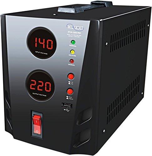Regvolt 500 Watt Deluxe Automatic Voltage Converter Transformer - Step Up & Down Function with Circuit Breaker Protection (ATVR-500 Deluxe Voltage Regulator)