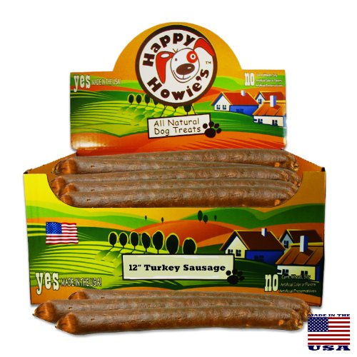 Image of Happy Howie's Turkey Sausage for Dogs - 12