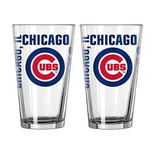 Boelter Brands MLB Chicago Cubs Spirit Pint Glass Set (Pack of 2), 16-Ounce