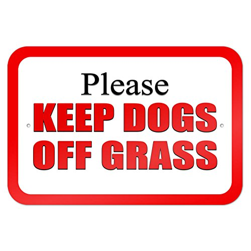 Please Keep Dogs off Grass Red 9