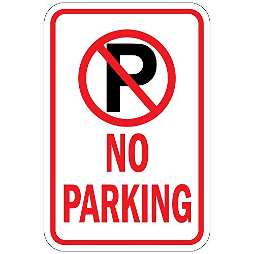 - Label Decal Sticker No Parking with P No Parking Symbol Vinyl Durability Self Adhesive Decal Uv Protected & Weatherproof