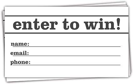 Amazon.com: 50 tarjetas de entrada de Raffle para ganar ...