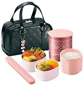 zojirushi thermal lunch box bento bako sz ga02 ba black japan. Black Bedroom Furniture Sets. Home Design Ideas