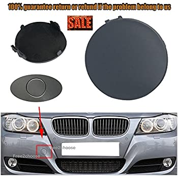 Weayaka for BMW E60 2008-2010 Primed Front Bumper Tow Hook Cover Cap 51117184708