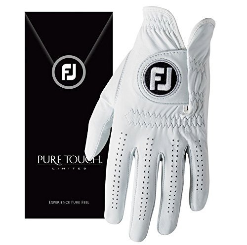 FootJoy New 2017 Pure Touch Limited Edition Mens Golf Glove -Worn on Left Hand (Medium Large)