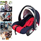 Safe&Comfort! H&A 3-In-1 Convertible Car Seat & Baby Basket & Baby Cradle (Red)