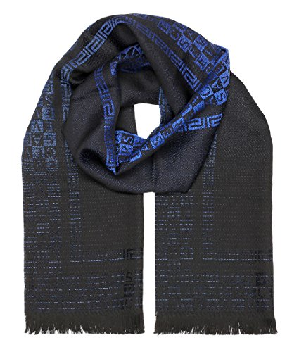 Versace Collection Blue Logo Ombre Scarf
