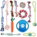 Dog Rope Toys [12 Pack] Oziral Puppy Braided Rope Toys Set Pet Dog Teeth Cleaning Gift Chew Durable Interactive Cotton Toys Dental Health for Small Dog Playing
