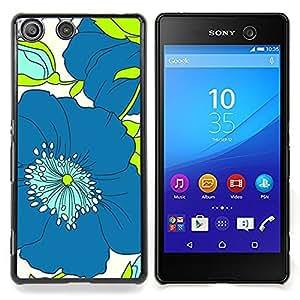 For Sony Xperia M5 E5603 E5606 E5653 Case , Modelo azul del verde del dibujo del arte - Diseño Patrón Teléfono Caso Cubierta Case Bumper Duro Protección Case Cover Funda
