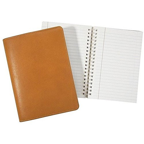 Wire-O-Notebook 7'' British Tan Fine Calfskin Leather by Graphic Image™ - 5x7 by Graphic Image