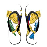 Flag Of The United States Virgin Islands Cozy Flip Flops Men And Women Beach Sandals Pool Party Slippers