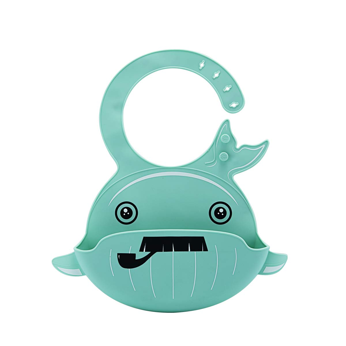 Whale:Green/&Blue 2pcs Silicone Baby Bids Waterproof Feeding Bids for Boys Girls Wipes Clean Easily,Soft,Durable,Food Grade Material Bibs for Infant and Toddler