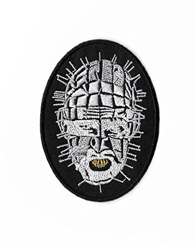 Hellraiser Pinhead Patch Embroidered Iron / Sew on Badge Horror Movie Cenobite Costume Souvenir Applique -
