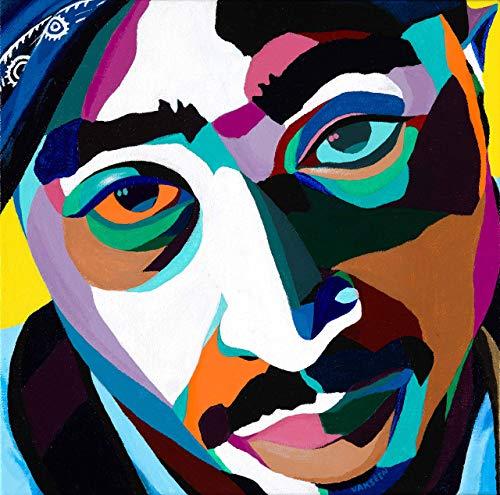 Vakseen Art - Lord Knows - Tupac Shakur portrait art - 2pac Art - Limited Edition Giclee Print & Framed Pop Art for Wall Decor