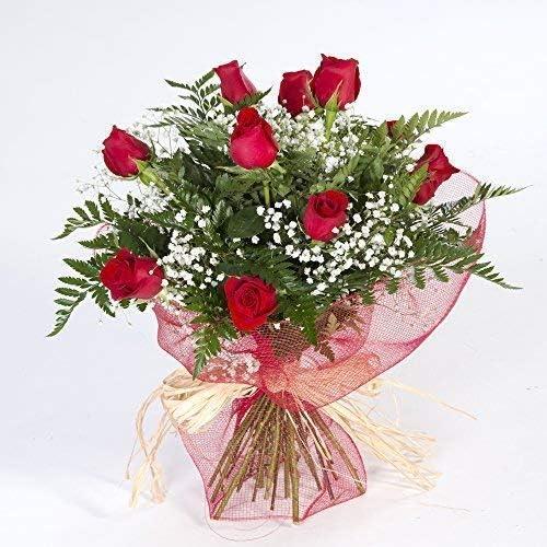 Ramo de 12 rosas rojas naturales (Flores Frescas) - Entrega en 24 horas