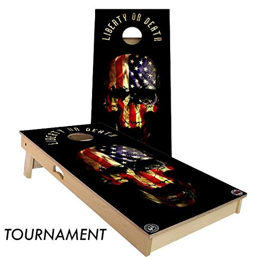 Slick Woody's Liberty or Death Cornhole Board Set 4' by 2' Tournament size MADE IN THE USA!! by Slick Woody's Cornhole Co.