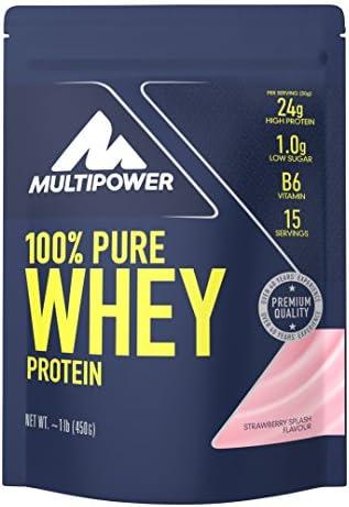 Multipower 100% Whey Protein Strawberry Splash - 450 gr