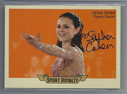 2010 Goodwin Champions Sasha Cohen Sport Royalty Autograph Card # SRA-SC On Card (2010 Olympics Figure Skating)