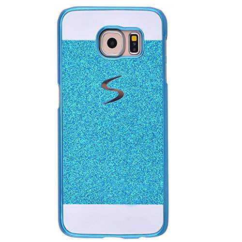 Galaxy S4 Mini i9190 Case, ARSUE (TM) Beauty Luxury Hybrid Bling Rhinestone Diamond Crystal Glitter Hard Case Cover Shell Phone Case for Samsung Galaxy S4 Mini i9190 (S4 NOT fit) (Blue) (Samsung Galaxy S4 Stussy Case)
