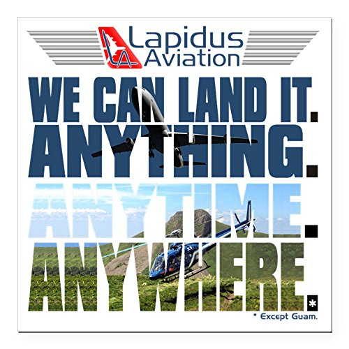 "CafePress - 3-Lapidus Aviation Square Car Magnet 3"" x 3"" - Square Car Magnet, Magnetic Bumper Sticker"