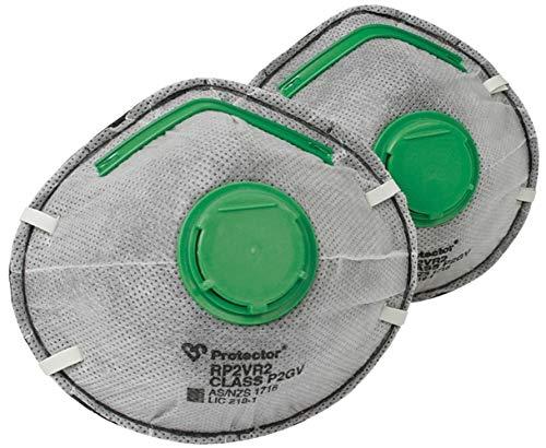 Protector Multi Mate P2 Respirators 2Pk Masks for Dust Mists Fumes Smoke Haze odours